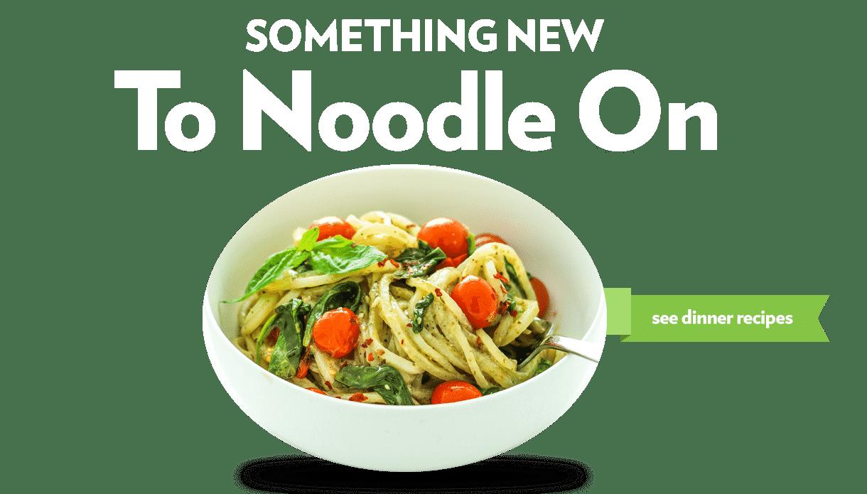 Dinner – Pesto Noodles